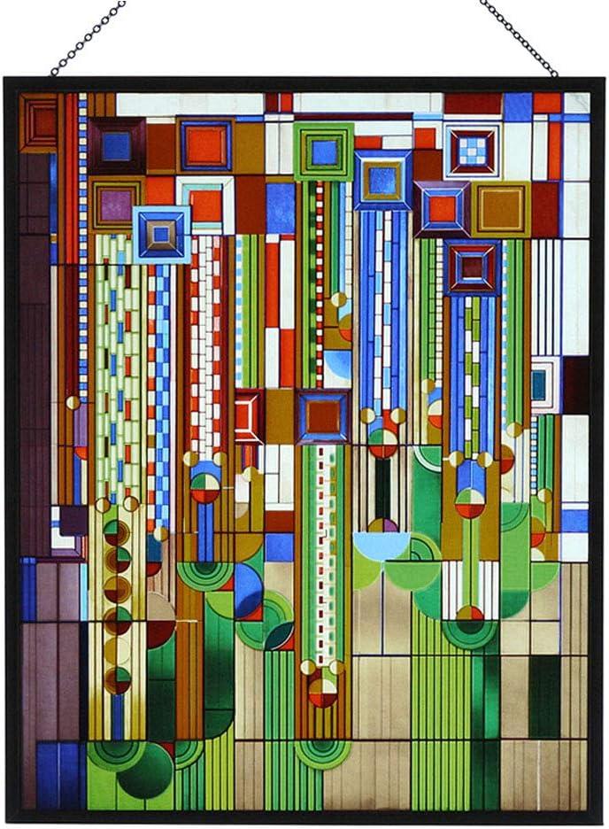 Music Wood Framed Decorative Art Glass Panel S-010