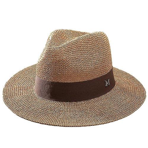 Sombreros De Paja Trilby Mujeres Niñas Al Aire Libre Respirable Verano Sombrero Para El Sol Sombrero...