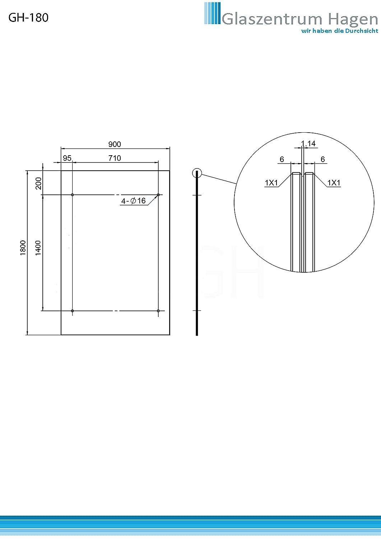 120x90cm Glasvordach Vordach Pavillion T/ürvordach Haust/ürvordach VSG-Glas inkl Edelstahlhalterunen Typ - V Halterung, inkl. 2x Edelstahlhalterung