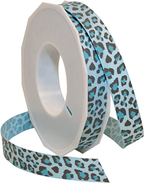 Leopard Animal Print Grosgrain Ribbon 3-Yard 5//8-Inch