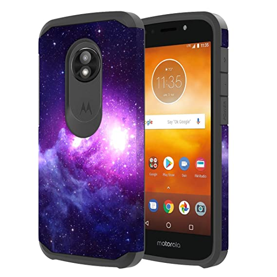 huge discount 63dc2 ca51c Moto E5 Play Case, Moto E5 Cruise Case, Onyxii Hybrid Dual Layer Slim  Graphic Armor Shockproof Impact Resistant Protective Cover Case for Moto E5  Play ...