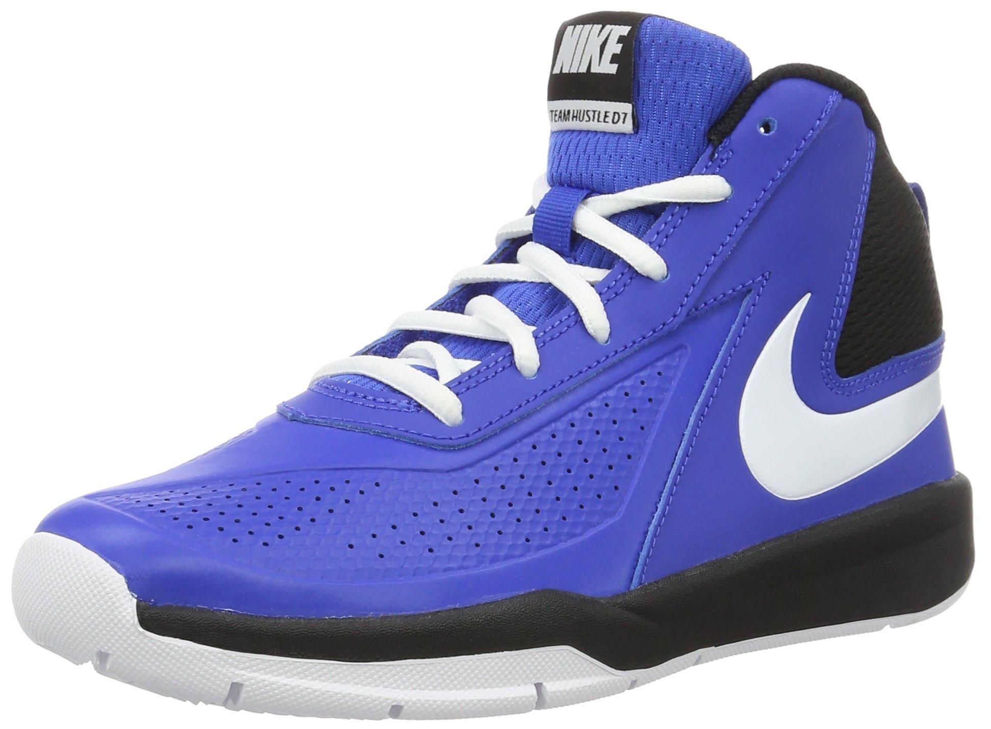 8aedbac5bf Galleon - Nike Boy's Team Hustle D 7 Basketball Shoe Game Royal/White/Black  Size 5 M US