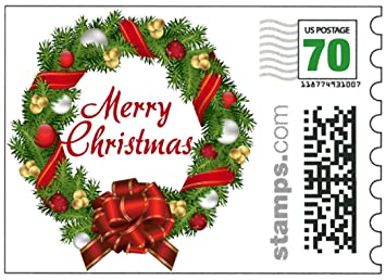 usps merry christmas stamps sheet of 20 stamps two ounce greeting card