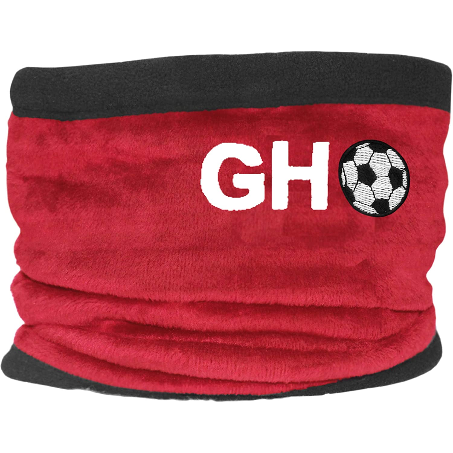 Boys Personalised Initials /& Football Fleece Sports Snood with Adjustable Toggle