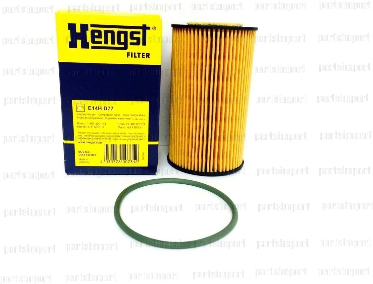 Set of 2 OEM Engine Motor Oil Filters for Porsche 911 Carrera 996 Boxster