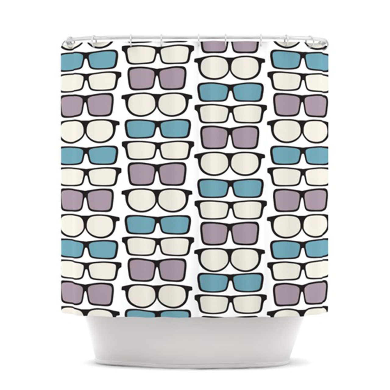 69 by 70-Inch Kess InHouse Michelle Drew Spectacles Geek Chic Shower Curtain