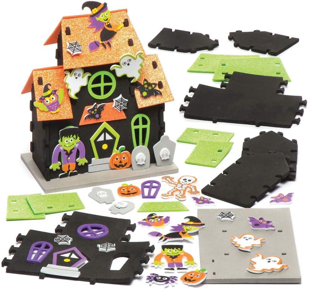 Baker Ross Kits de Casas embrujadas (Pack de 2) para Manualidades y Decoraciones Infantiles de Halloween: Amazon.es: Hogar
