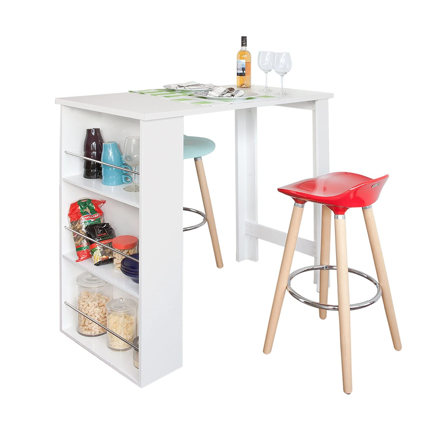 bar de cuisine avec rangement affordable chrictine meuble de cuisine bar en carton with bar de. Black Bedroom Furniture Sets. Home Design Ideas