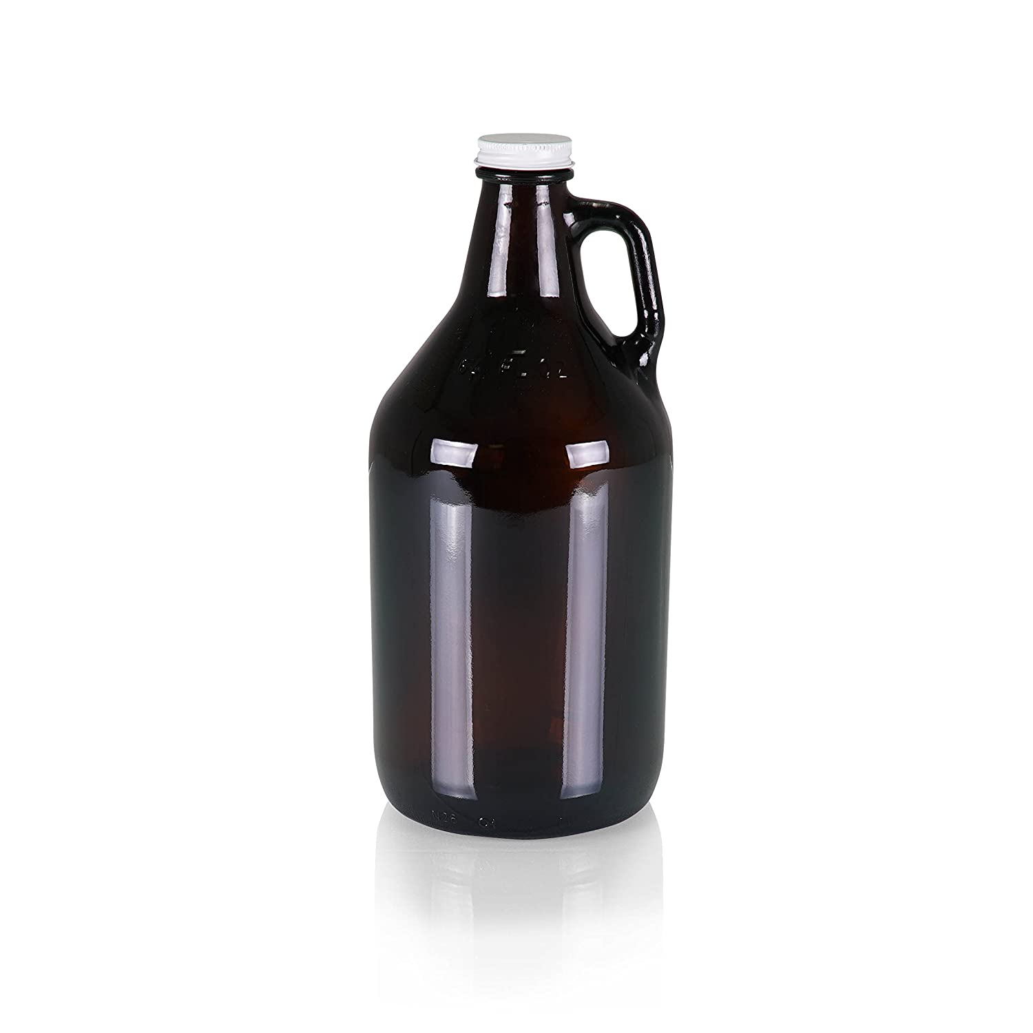 Legacy-A Picnic Time Brand Amber Glass Growler Jug with Handle and Steel Twist Off Lid, 64-Ounce 104-00-610-000-0