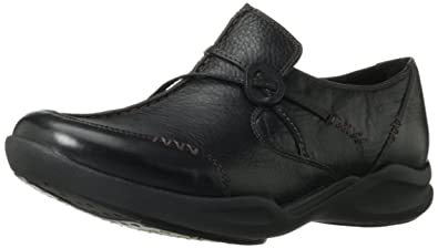 7fc7d1de25826 Clarks Women's Wave.Run Black Leather 11 W US: Buy Online at Low ...