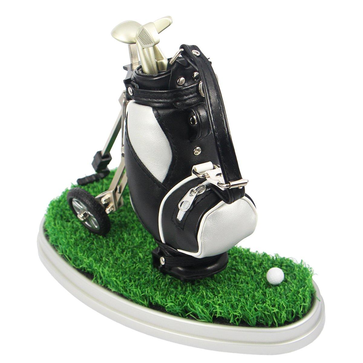 HKOO Golf Gift Golf Pens Holder,Golf Pens with Golf Bag ... Model Golf Bag Cart Pen Holder on golf cart trophy, forklift pen holder, golf cart tape dispenser, golf cart organizer, golf bag pen holder, golf cart radio, golf cart mugs, golf cart batteries, golf cart keychain, golf cart bags, golf cart tray,