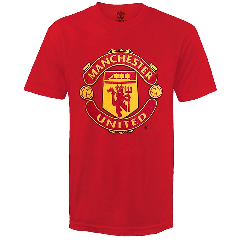 Manchester United FC Official Football Gift Kids Crest T-Shirt