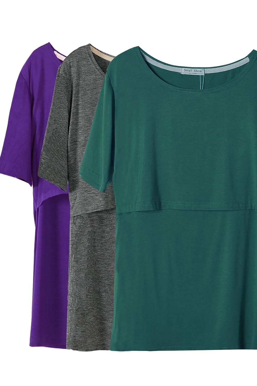 Smallshow SHIRT レディース B07KRRJ1WY Medium|Dim Grey/Indigo/Green(mmodal Rayon) Dim Grey/Indigo/Green(mmodal Rayon) Medium