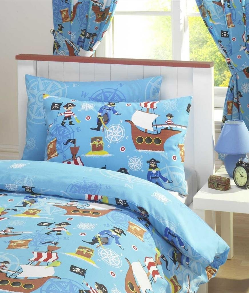 awesome rideau chambre enfant motif tresor de pirate. Black Bedroom Furniture Sets. Home Design Ideas