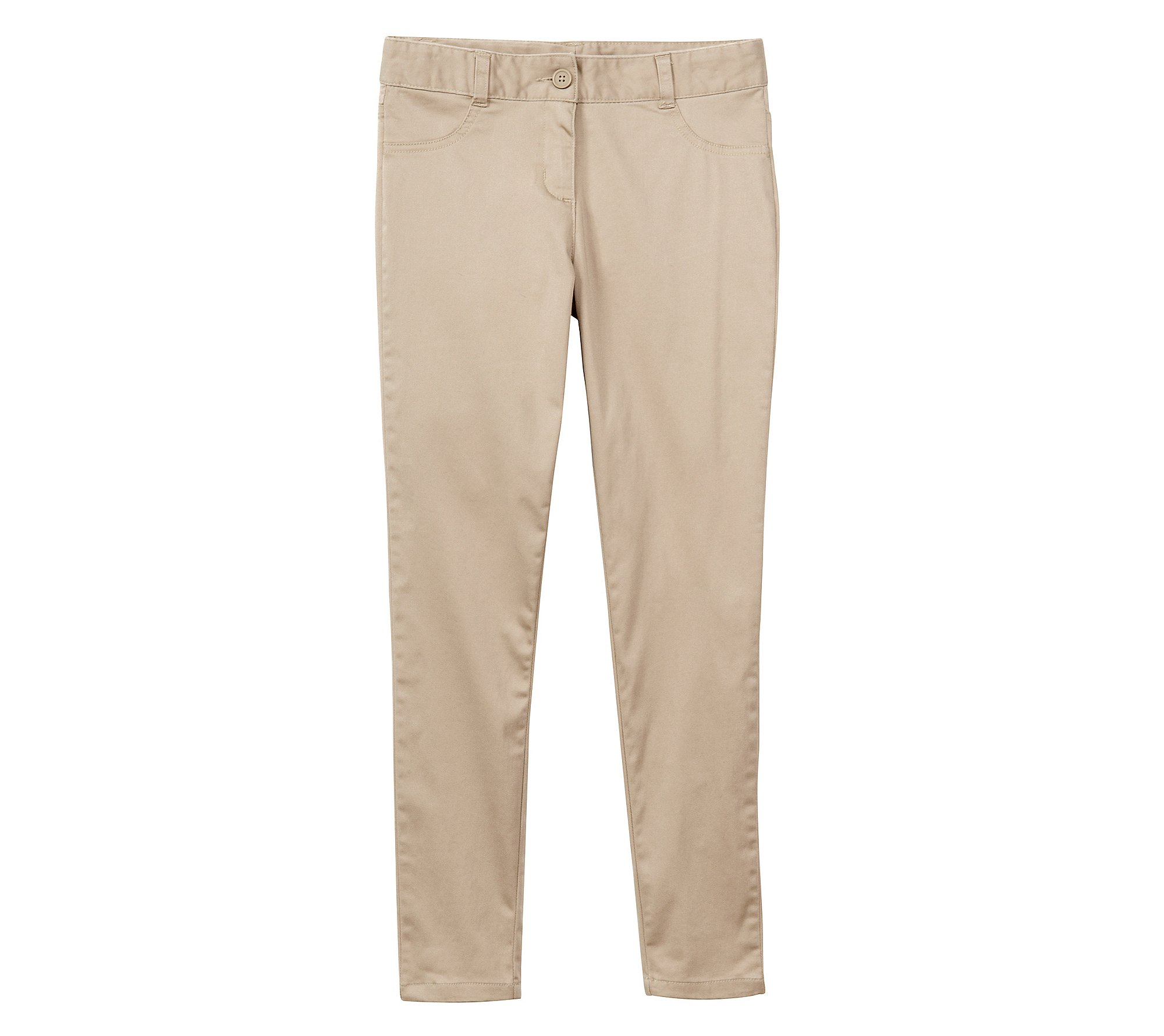Nautica Girls' 7-16 5-Pocket Sateen Pants Summer Khaki 14 Regular