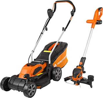 Yard Force Cordless Lawnmower and Cordless Grass Trimmer - 2 In 1 Deal