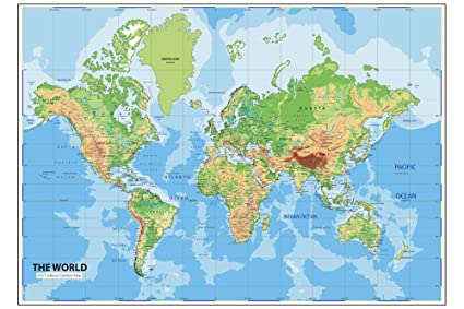 Cheap World Map Poster on