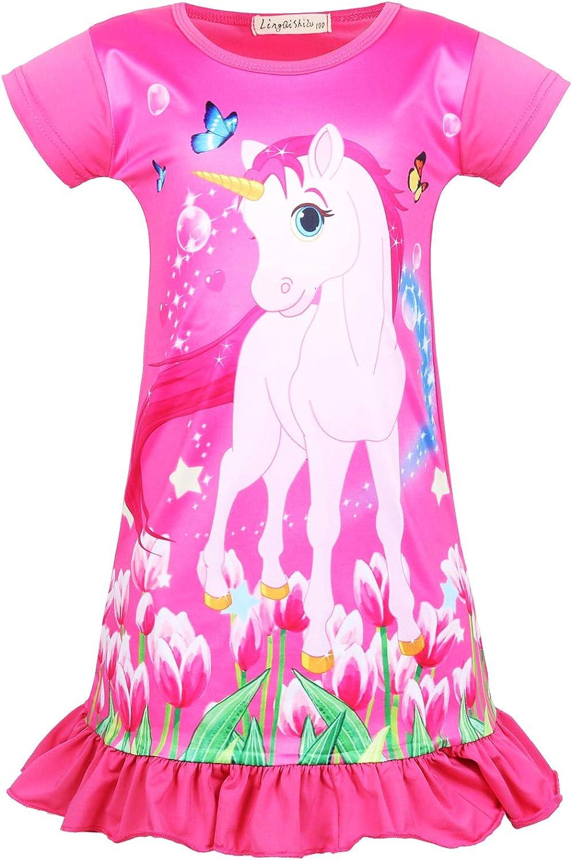 Unicorn Nightgown Princess Pajama Dresses for Girls Sleepwear Nightie Sylfairy Girls Nightgowns