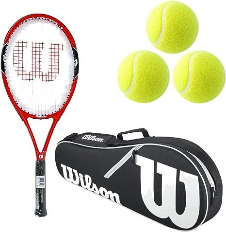 Juego de 2 raquetas de tenis Wilson tama/ño XL, 3 pelotas
