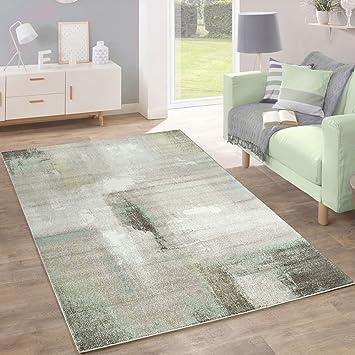 Amazon De Paco Home Designer Teppich Modern Wohnzimmer A Lgemalde