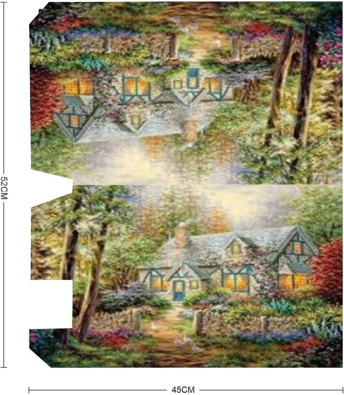 rfy9u7 Mailbox Wraps Lively Cabin with Many Plants Magnetic Mail Cover Letter Post Box Cover Decor Decal 18x21