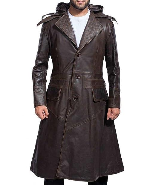 Allswish Mens Ninja Jacob Frye Assassins Creed Brown Trench ...