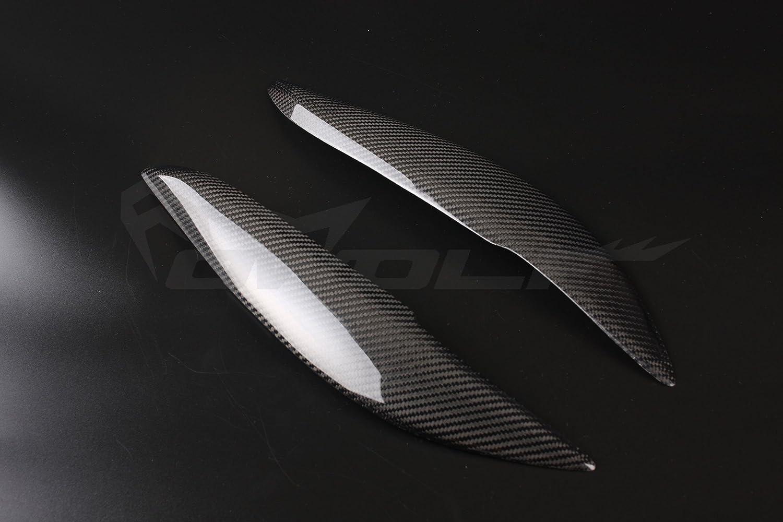 Real de fibra de carbono p/árpado Cejas Cubierta del faro par