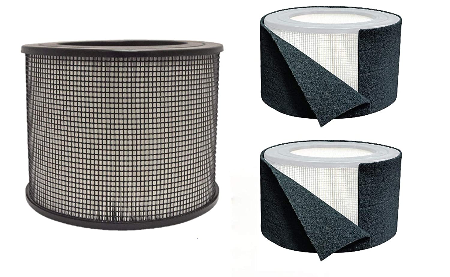 Honeywell Replacement Filter Kit 50250-S - 24000 True HEPA Filter and Pre Cut Carbon Pre Filter Wraps (1 HEPA Filter + 1 Carbon Wrap)