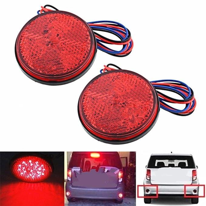 12/V en CC remorque 2/phares ronds universels Qiorange avec 24/LED et r/éflecteur camion moto pour v/éhicule /éclairage arri/ère feux de freinage