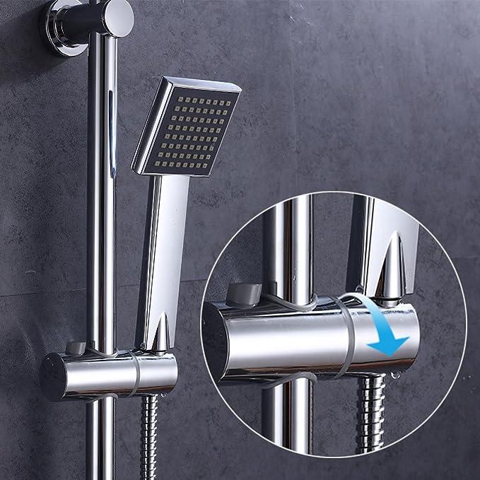 Bath bt030/de Maison CR Set Syst/ème de douche Chrom/é avec robinet robinet ensemble de douche douchette douche pluie douche de douche thermostatique