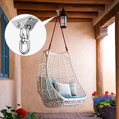 EKKONG Gancio per Soffitto per Yoga Sacco da Boxe Acciaio Inossidabile Gancio per Soffitto Sospensione con 360/°Gancio Girevole Amaca capacit/à di Carico Fino a 400KG