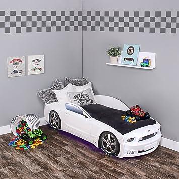 KAGU Autobett Kinderbett Jungendbett Juniorbett im Design eines echten  Autos auch mit LED-Beleuchtung erhältlich. Praktisches und bequemes Bett  für ...