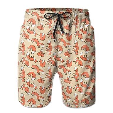 6900c8d896 Fox Men's Swim Trunks Loose Summer Beach Shorts Surfing Home Shorts |  Amazon.com