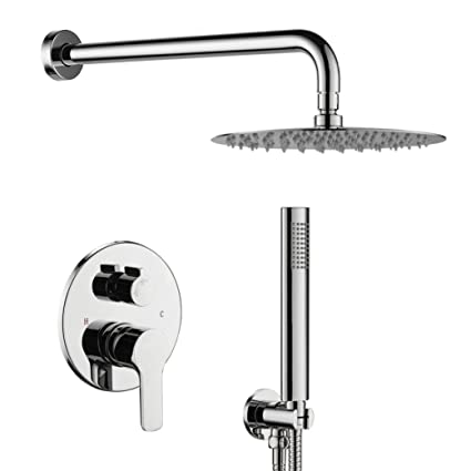 Home Improvement Considerate Universal Durable Silver Handheld Water-saving Pressure Rain Shower Head Bathroom Fixtures