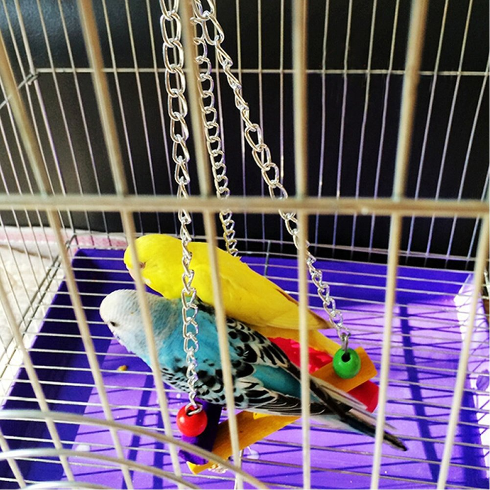 Mrli Pet Colorful Bird Chew Perch Swing Toy for Small Size Bird Parrot Parakeet Cockatiels Conure Lovebird Cage Hanging Swing Toy for Bird Cage