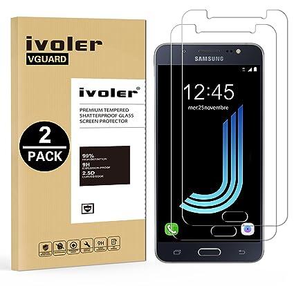 iVoler [2 Unidades] Protector de Pantalla Compatible con Samsung Galaxy J5 2016, Cristal