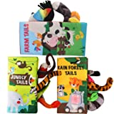 beiens Soft Baby Cloth Books,Touch and Feel Crinkle Tail Books, Cloth Books Set for Babies,Infants & Toddler Early…