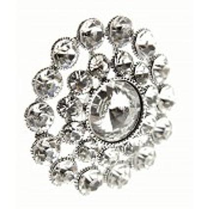 e9106f800bf63 Small Silver Sparkling Heirloom Wedding Day Diamante Brooch Pin ...