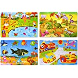 Wooden Jigsaw Puzzles Set for Kids Age 2-6 Year Old 30 Piece Colorful Wooden Puzzles for Toddler Children Learning…