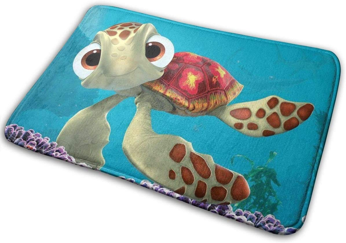 Finding Sea Turtles Bath Rugs and Mats Kwhy Memory Foam Bath Mats Non Slip Soft Absorbent Bath Rugs Rubber Back Runner Mat for Kitchen Bathroom Floors 15.7