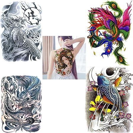 SOFIALXC Tatuaje Temporal con Respaldo Completo, Pegatinas de ...