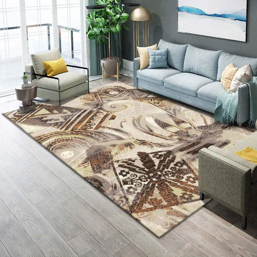 TriGold Soft Area Rugs Moroccan, Modern Geometric Floor Carpet Abstract Throw Rug Soft Velvet Home Decor Carpet Mat Living Room Bedroom-h 120x160cm(47x63inch)