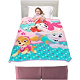 "Franco A3348C Kids Bedding Super Soft Plush Throw, 46"" x 60"", Paw Patrol Pink"