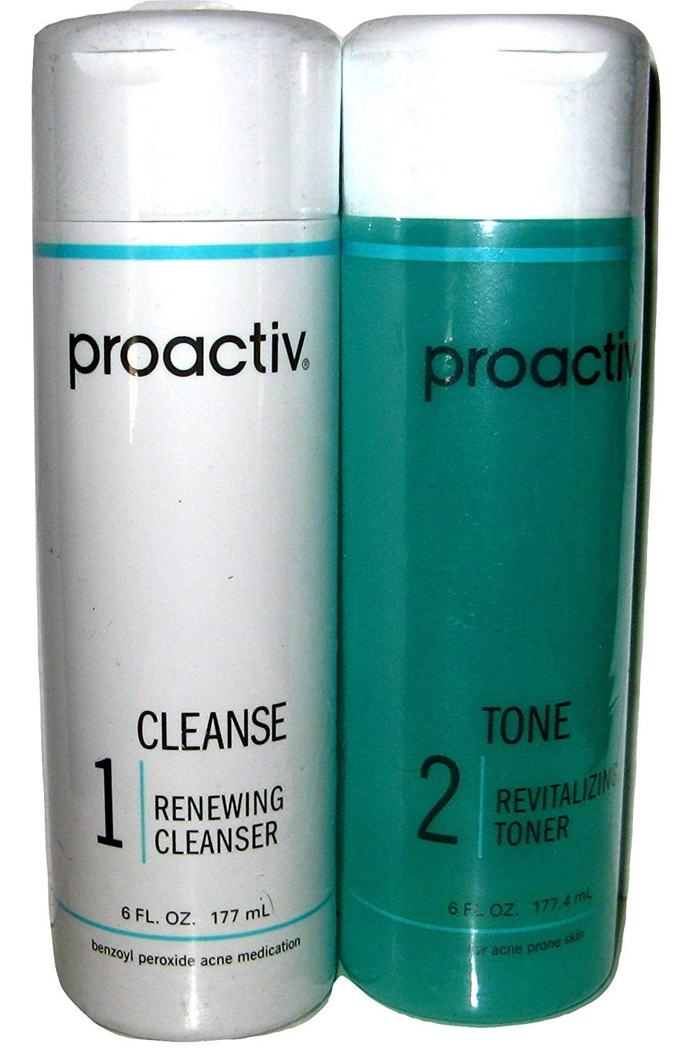 2PC 90 day SET Proactive CLEANSE + TONE ( Renewing Cleanser + Revitalizing Toner ) - 6fl oz / 177mL by ProActive