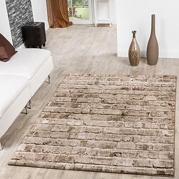 Amazon De T T Design Teppich Torino Stone Optik Grau Wohnzimmer