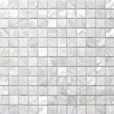 Mosaikfliesen Weiß perlmutt glas effekt mosaik fliesen weiss amazon de baumarkt
