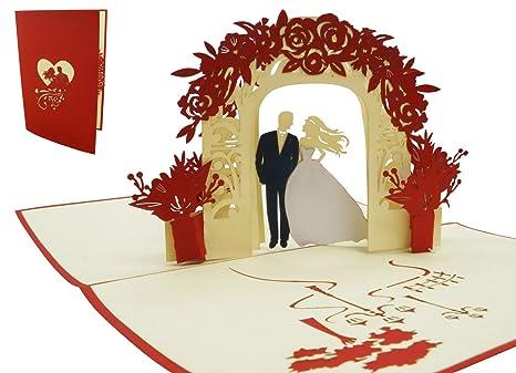 Biglietto Auguri Matrimonio Pop Up : Lin 17536 pop up 3d biglietto matrimonio biglietto d auguri pop
