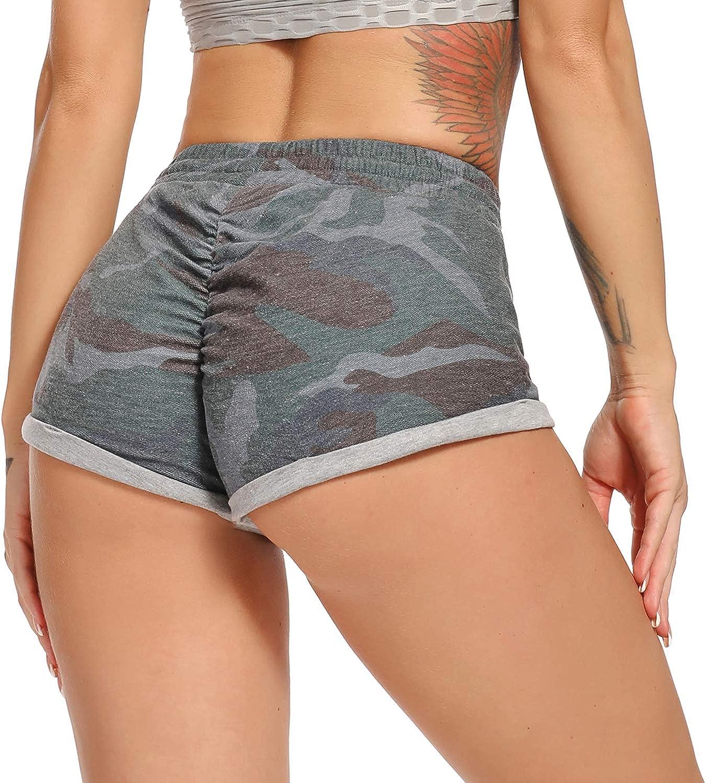 STARBILD Pantaloncini Sportivi Donna Push Up Shorts Sport Particelle Legging Corte Estate Pantaloni Corta Spiaggia Ginnastica Palestra