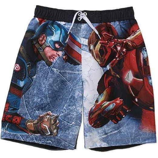 09cd93faf1a30 Amazon.com: Marvel Avengers Captain America Civil War Swim Trunks (6 ...