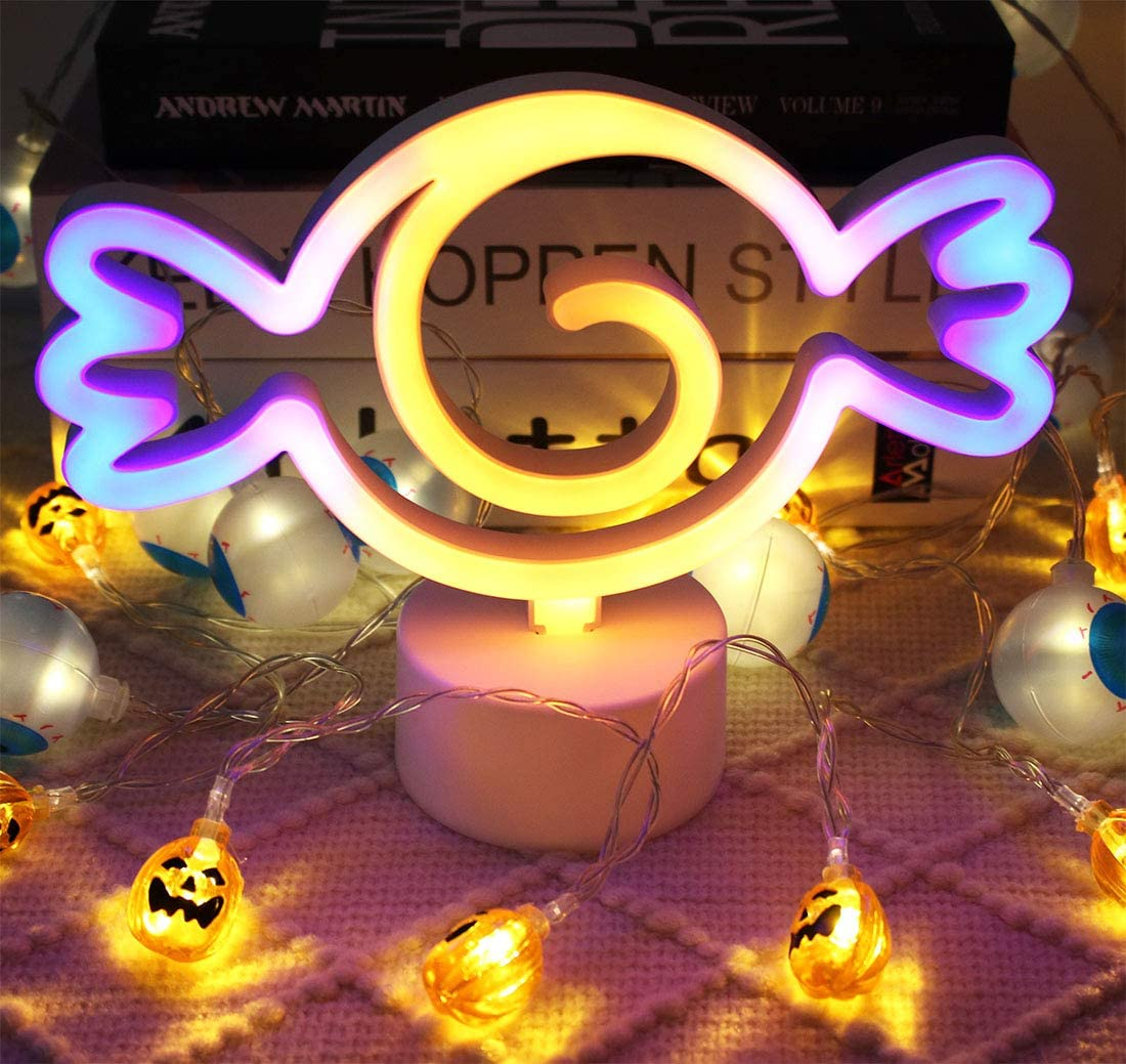 Candy Cute Light Night Lights,LED Candy Shape Lamp Decor for Home,Fun Light for Kids Room Decoration Powered by Battery